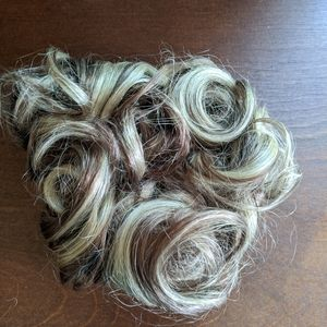 100% Human Hair piece Wiglet Topper Can be dyed